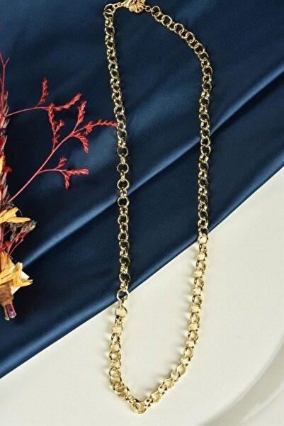 Fox Shoes Kadın Altın Kaplama Yuvarlak Zincir Kolye 45 cm Ka011021