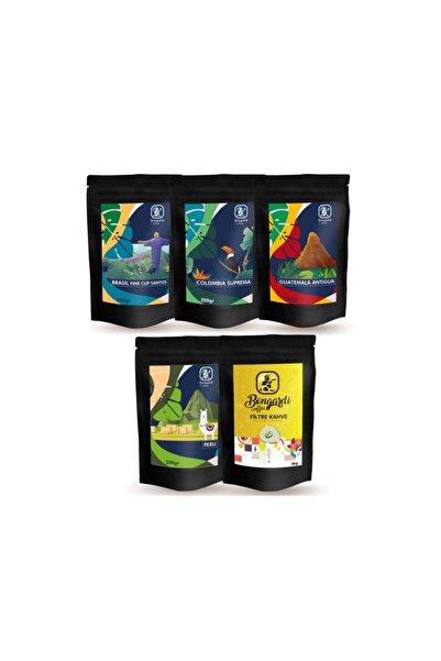 Bongardi Coffee 5x200 gr Santos Colombia Peru Guatemala Intense Blend Filtre Kahve Seti