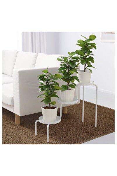 IKEA Ps 2014 3 Katlı Saksı Çiçek Standı Çiçeklik Saksılık Çelik Beyaz