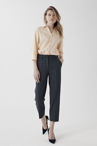 Chima Kadın Lacivert Bilekte Boru Paça Pantolon