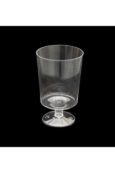 Samur Şeffaf Kristal Mika Yıkanabilir Ekstra Sert Plastik Mini Kadeh 150 Cc 10 Adet