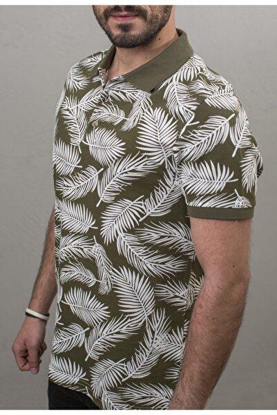 Fabrika Erkek Desenli Polo T-shirt Haki
