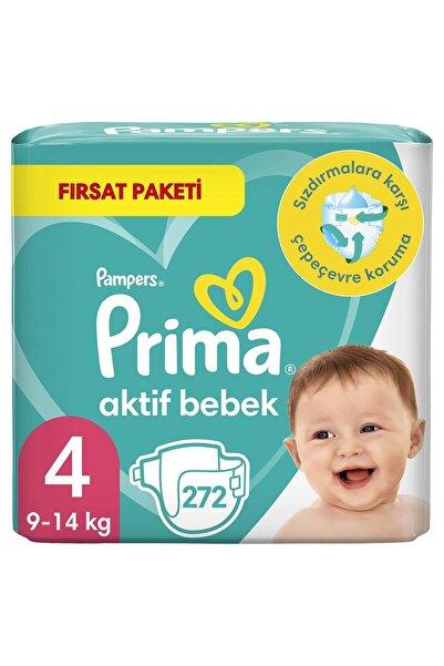 Prima Bebek Bezi Aktif Bebek 4 Beden 272 Adet 2 Aylık Fırsat Paketi