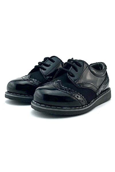 Mnk Erkek Çocuk Rugan Süet Lastik Bağcıklı Klasik Ayakkabı