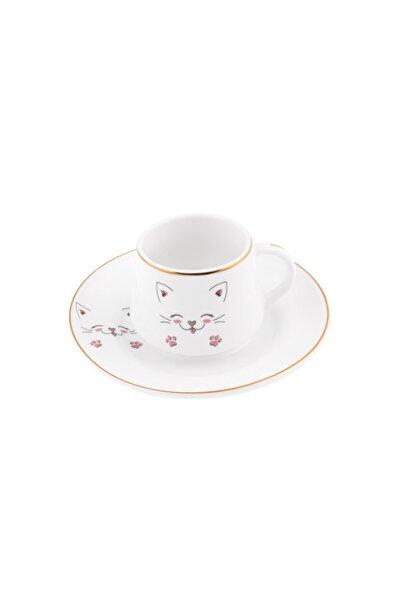 Emsan Cat Lover 6 Kişilik Kahve Fincanı Takımı