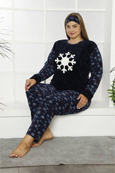 Moday Welsoft Polar Büyük Beden Pijama Takımı 32f-1836