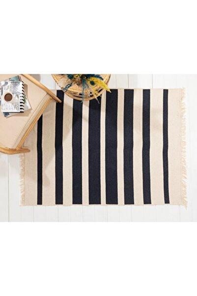 English Home Stripes Pamuklu Kilim 80x150 Cm Lacivert