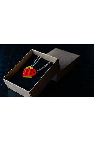 LEGO Kalp Çift Kolyesi Sarı Kırmızı
