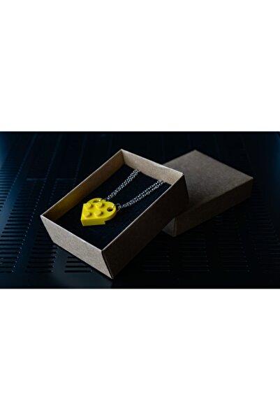 LEGO Kalp Çift Kolyesi Sarı