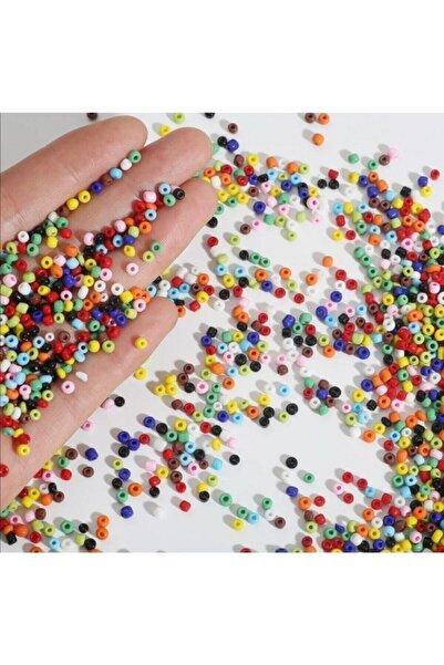 platin hediyelik 100 gram 3 Mm Karışık Renk Cam Kum Boncuk