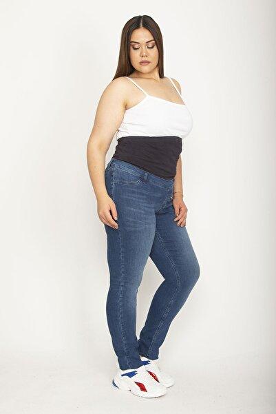 Şans Tekstil Kadın Lacivert Denim Kumaş Hamile Pantolonu