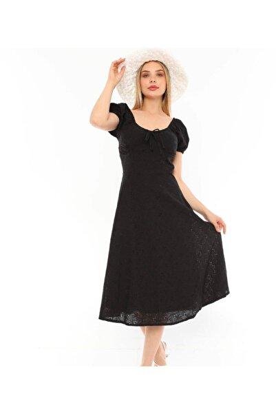Miss Selens Fisto Bağcık Detaylı Elbise