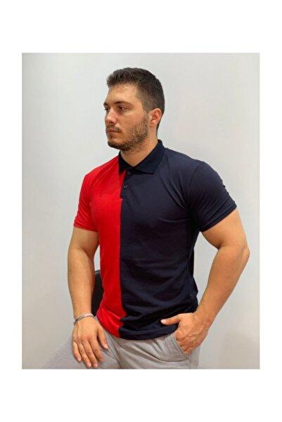 Origami Çift Renkli Polo Yaka Style T-shirt
