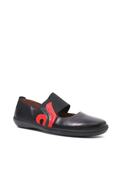 Beta Kadın Hakiki Deri Siyah Sandalet