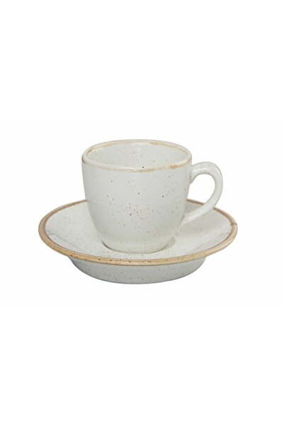 Porland Seasons Bej Tabaklı Kahve Fincanı 80 Cc