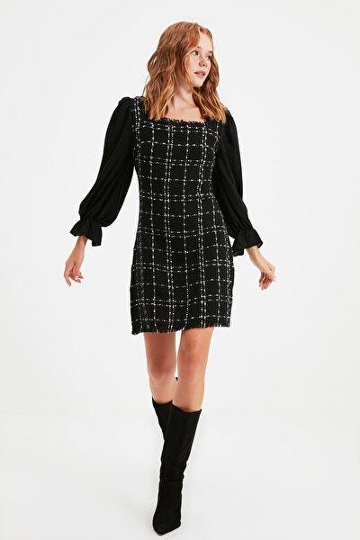 TRENDYOLMİLLA Siyah Tüvit Elbise TWOAW21EL0532