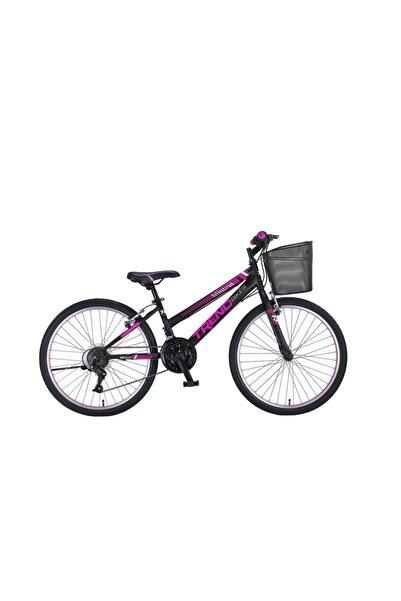 TRENDBIKE Mistral 24 Jant 21 Vites Siyah Fuşya Kadın Dağ Bisikleti