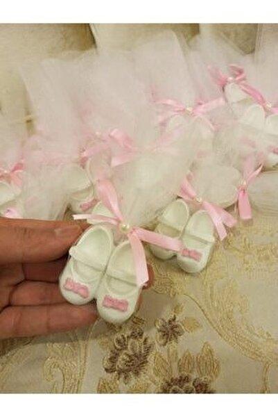 20 Adet Ayakkabı Kokulu Taş Bebek Şekeri Doğum Günü 1 Yaş Hediyelik