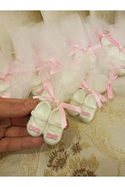 BY FİEYDA 20 Adet Ayakkabı Kokulu Taş Bebek Şekeri Doğum Günü 1 Yaş Hediyelik