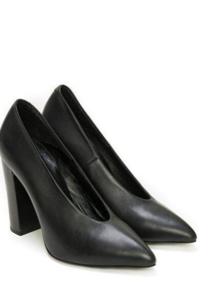 Vekem Deri Topuklu Ayakkabı