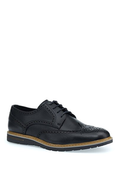 JJ-STILLER 1pr Siyah Erkek Klasik Ayakkabı