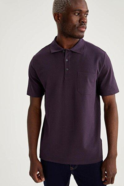 DeFacto Oversize Fit Polo Yaka Basic Kısa Kollu Tişört