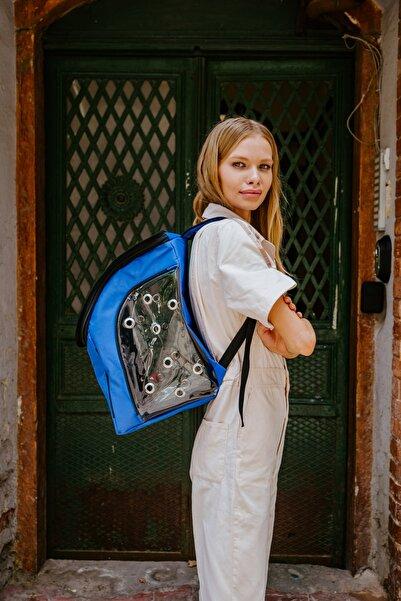 Viselia Kedi Taşıma Çantası Evcil Hayvan Seyahat Kedi Sırt Çantası 16 Kapsüllü Mavi
