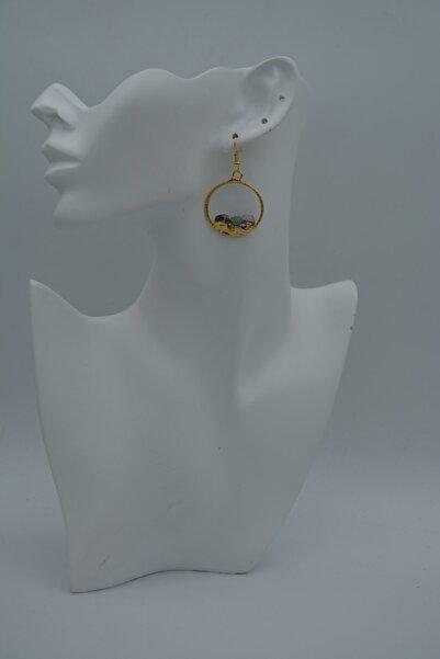 Stoneage Jewellery Tasarımcı Halka Küpe Altın Rengi