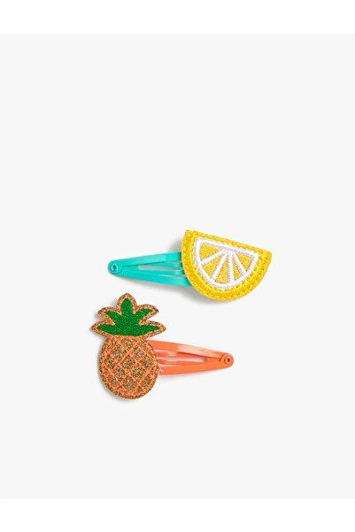 Koton Kız Çocuk Limonlu Ananasli Çitçit Toka Seti