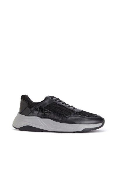 Dıvarese Siyah Gri File Doku Detaylı Ayakkabı