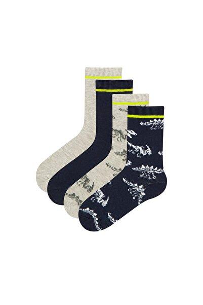 Penti Çok Renkli Navy Dino 4 lü Soket Çorap