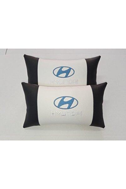 Hyundai Siyah Beyaz Oto Koltuk Boyun Yastığı Araba Araç Seyahat Koltuk Yastık 2ad Gönderilecek