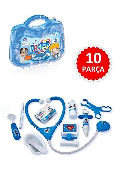 Toysberg Çantalı Doktor Seti Eğitici Eğlenceli 10 Parça Mavi Muayene Seti