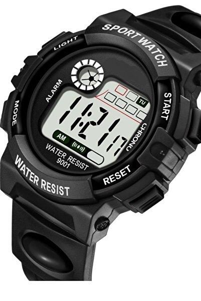 Black Point Siyah Dijital Çocuk Kol Saati Işıklı Takvimli Alarmlı Dijital Saat