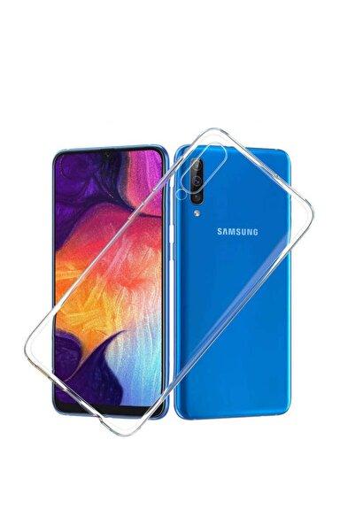 Samsung Galaxy A50 Kılıf Ultra Ince (0.2 Mm Incelik) Şeffaf Silikon