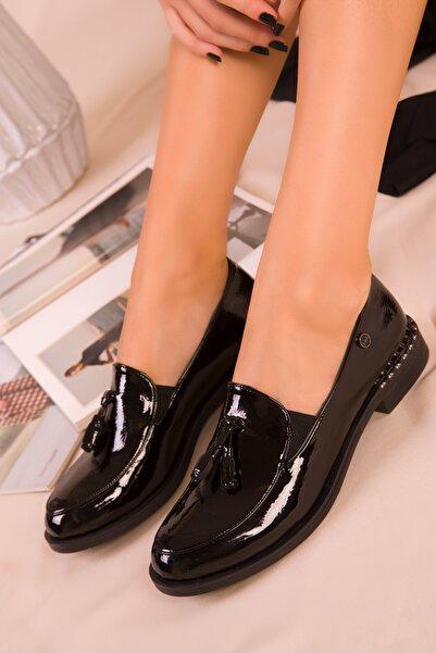 SOHO Siyah Rugan Kadın Casual Ayakkabı 16459