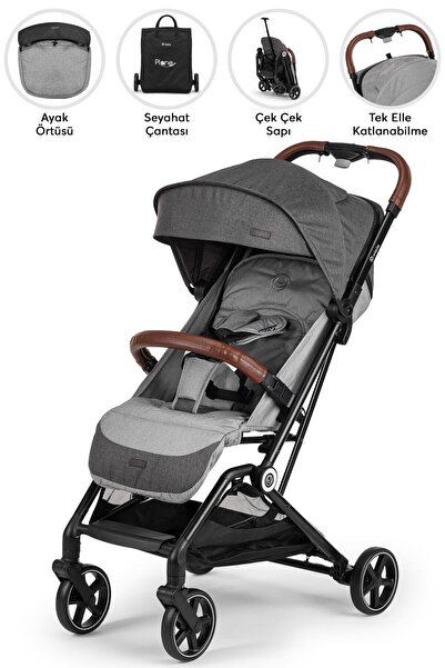Elele Plane Kabin Tipi Bebek Arabası Siyah-gri