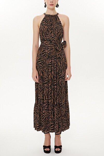 SOCIETA Askılıklı Sıfır Kollu Bol Kesim Elbise 93470