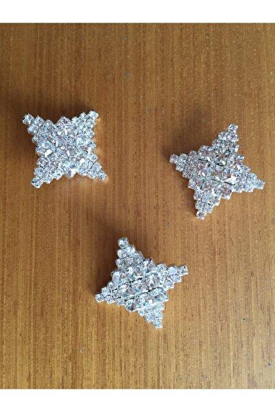 KARESPA Kristal Taşlı Oval Kenarlı Büyük Kare Gelinlik Abiye Elbise Düğme Aksesuar 10 Adet
