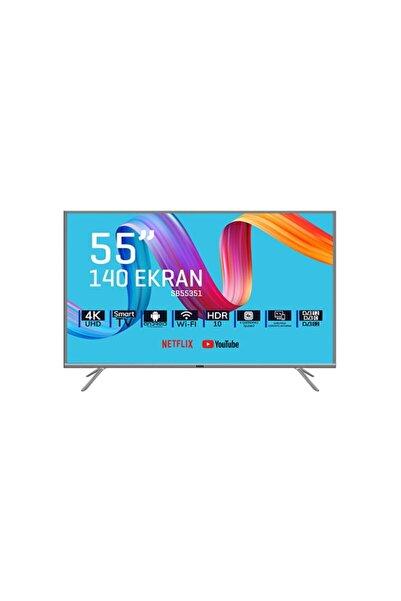 """Saba SB55351 55"""" 140 Ekran Uydu Alıcılı 4K Ultra HD Smart LED TV"""