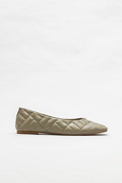 Elle Shoes Yeşil Kadın Babet