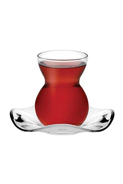 Paşabahçe Dantel Cam Çay Bardağı Seti 6 Kişilik