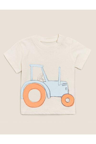Marks & Spencer Organik Pamuklu Traktör Baskılı T-shirt