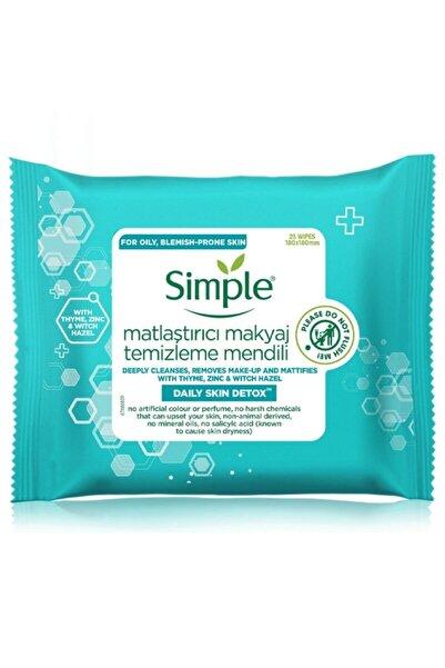 Simple Daily Skin Detox Matlaştırıcı Makyaj Temizleme Mendili 25 Adet