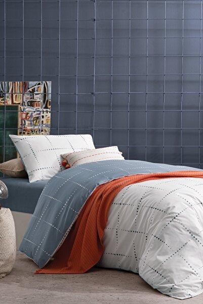 Yataş Bedding Limes Ranforce Xl 3 Parça %100 Pamuk Tek Kişilik Indigo Çift Taraflı Nevresim Takımı -180x220