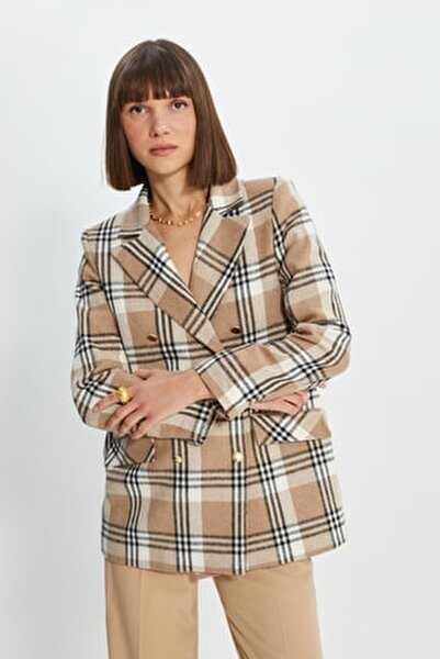 Camel Düğmeli Blazer Ceket TWOAW22CE0178