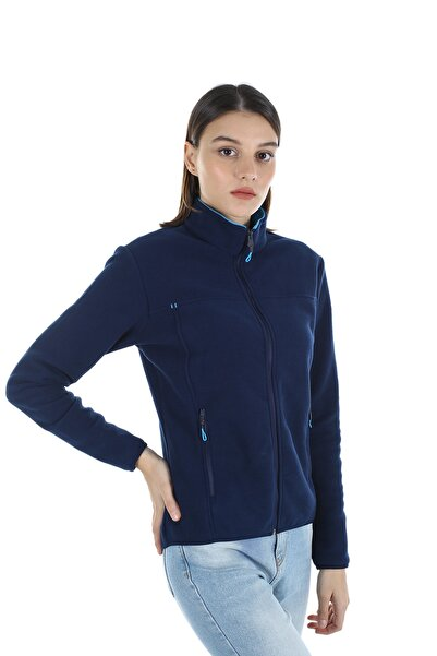 Diandor Kadın Lacivert Polar Hırka 7002 21w42007002