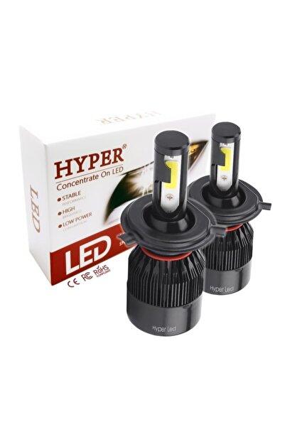 Hyper H4 Led Xenon Far Ampulü 9000 Lümen 6500k Şimşek Etkili Gerçek Günışığı Led Zenon Xenon Oto Far