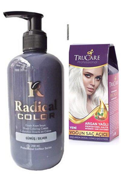 Trucare Radical Color Saç Boyası Gümüş 250 ml Ve Saç Açıcı