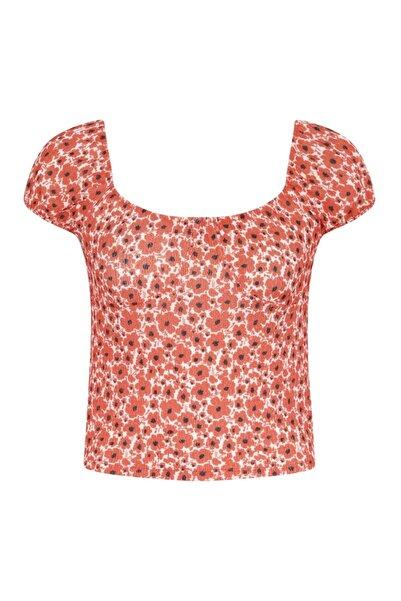 Mudo Çiçek Desenli Örme Bluz
